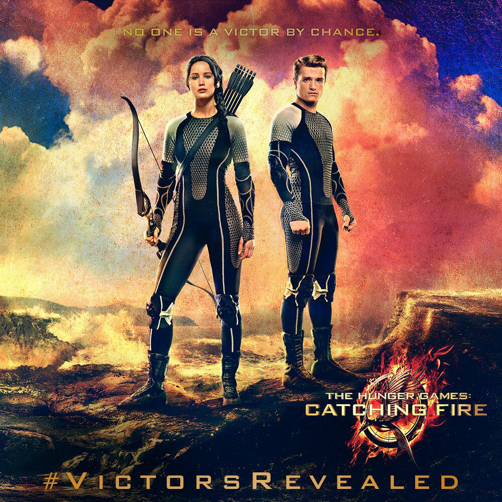 Catching Fire Banner - Katniss & Peeta