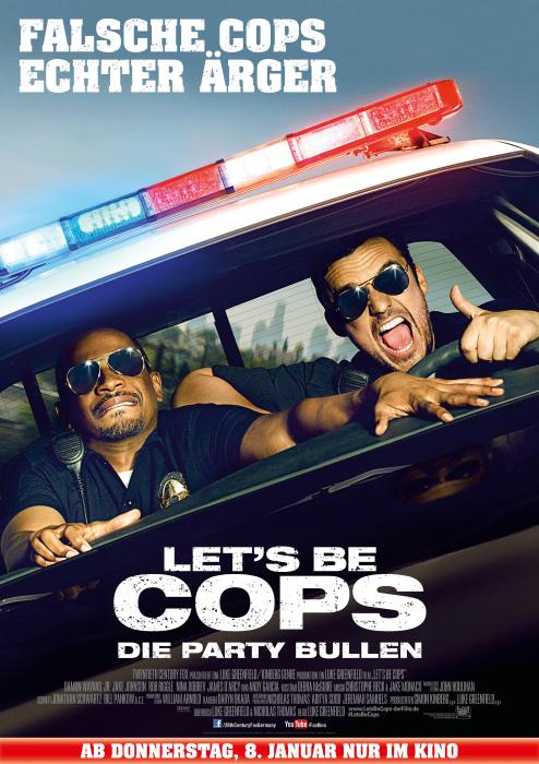 Let's Be Cops Gewinnspiel Plakat