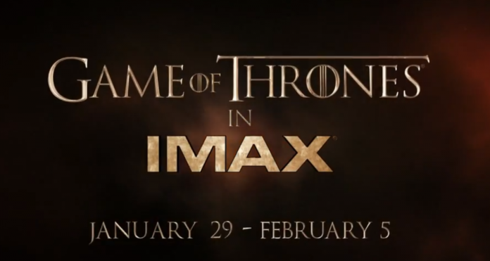 Game of Thrones IMAX Promo