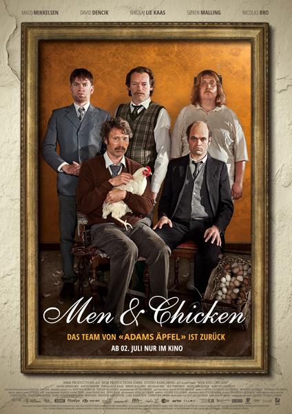 Men and Chicken Gewinnspiel Poster