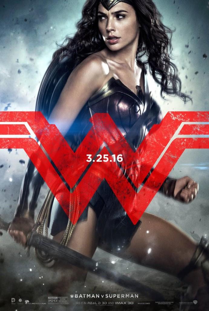 Batman v Superman Charakterposter Wonder Woman
