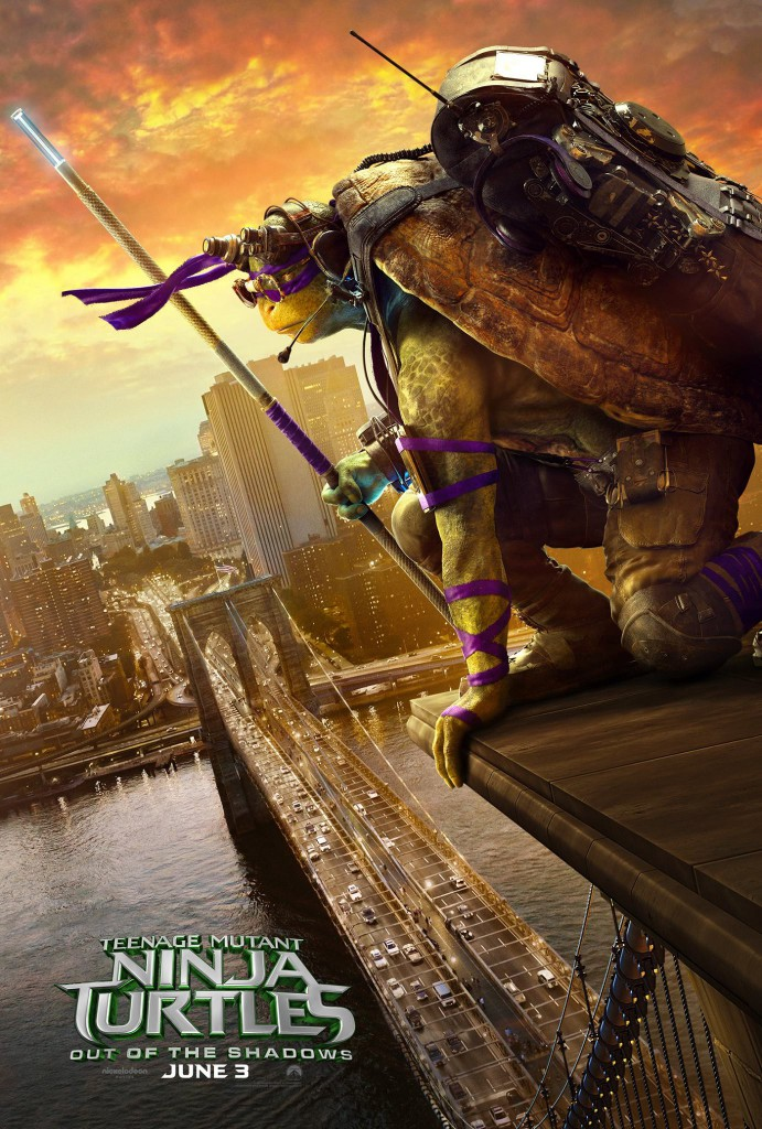 Teenage Mutant Ninja Turtles Out of the Shadows Poster Donatello
