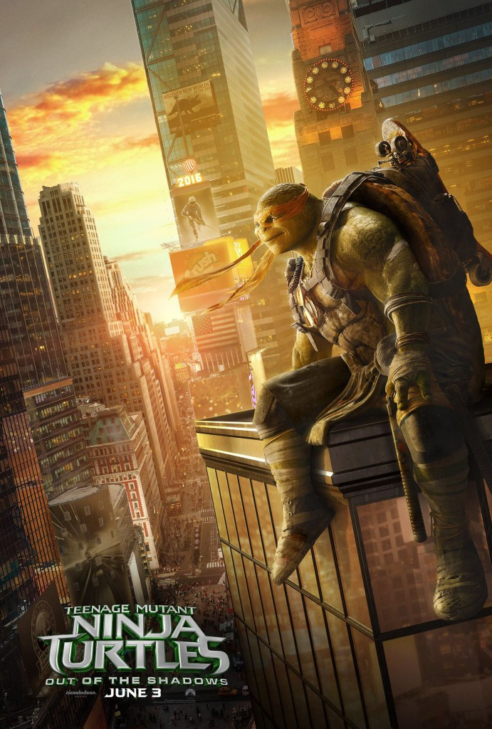 Teenage Mutant Ninja Turtles Out of the Shadows Poster Michelangelo