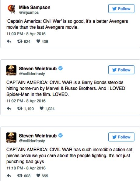 Captain America Civil War Spider Man Kritiken 1