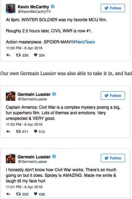 Captain America Civil War Spider Man Kritiken 2
