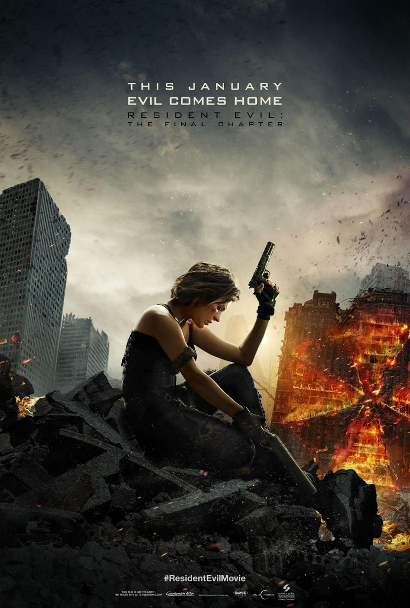 Resident Evil The Final Chapter Trailer & Poster 1