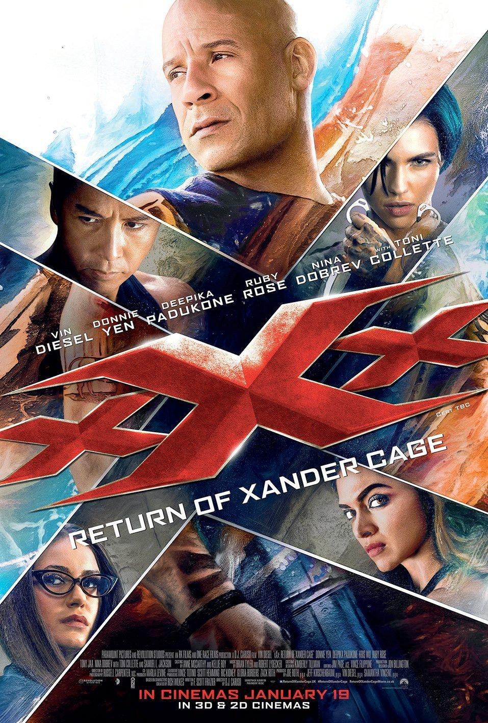 xXx Die Rückkehr des Xander Cage Vorschau Plakat 1