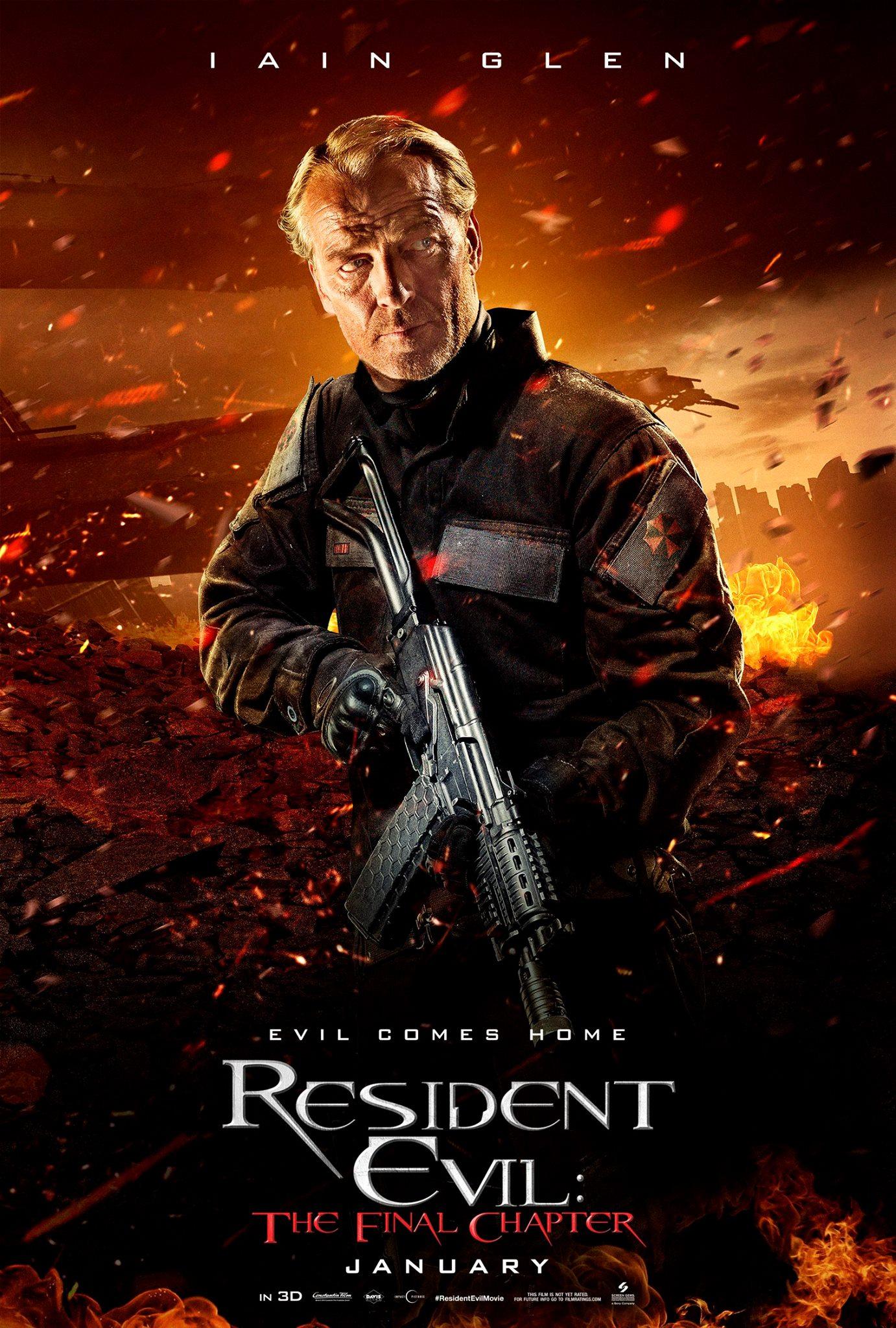 Resident Evcil The Final Chapter Vorschau Charakterposter 4