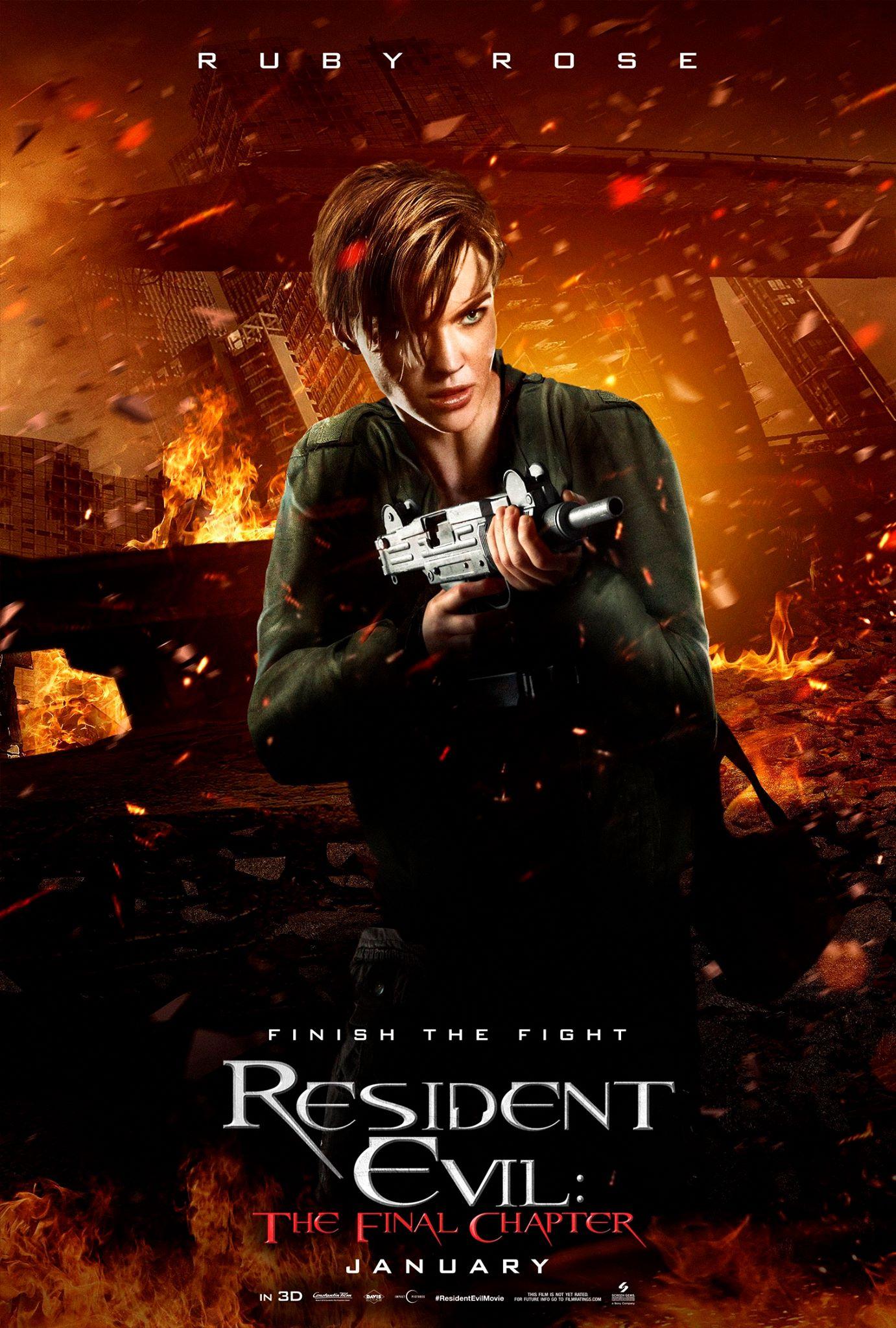 Resident Evcil The Final Chapter Vorschau Charakterposter 5