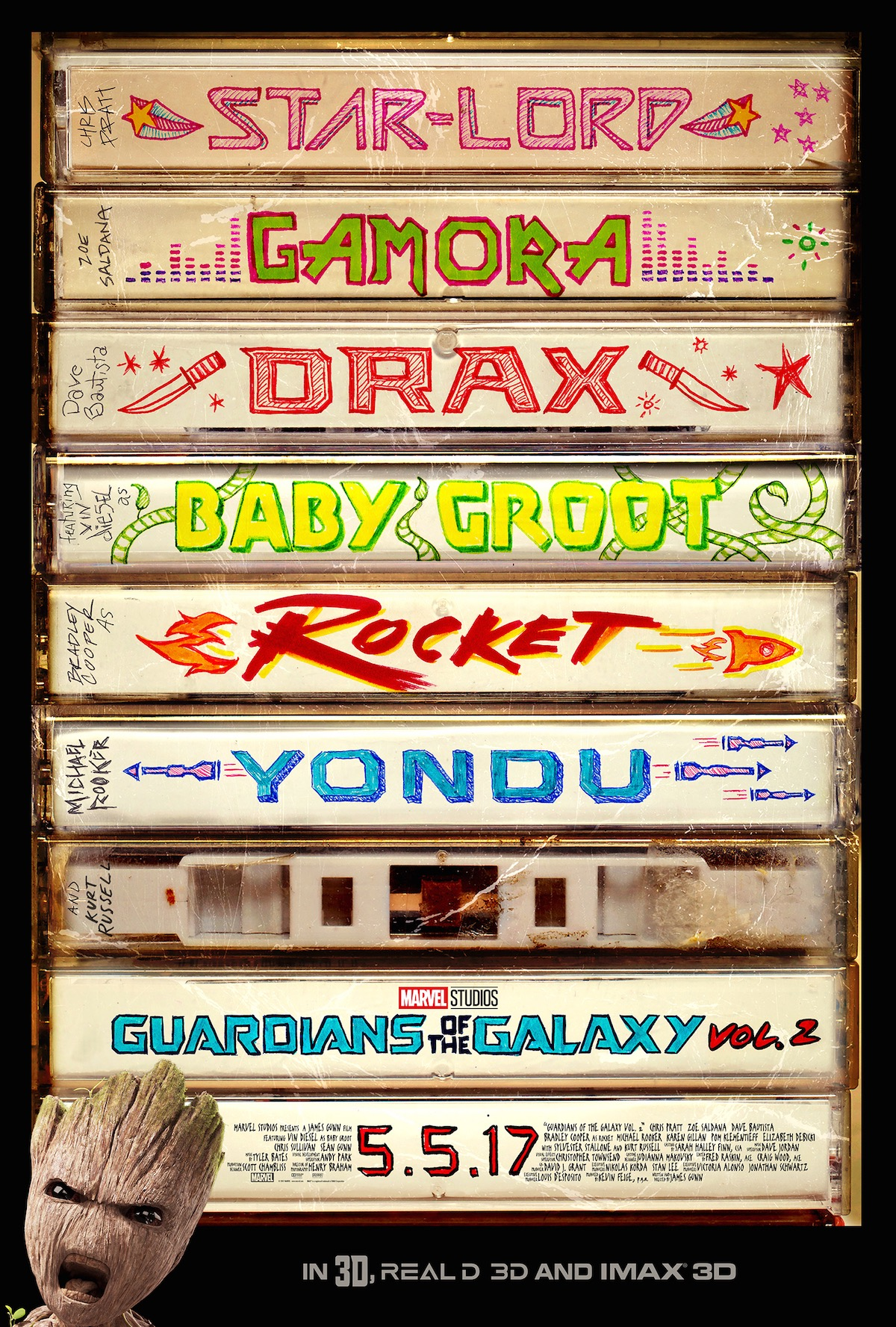 Guardiand of the Galaxy Vol 2 Spot & Plakat