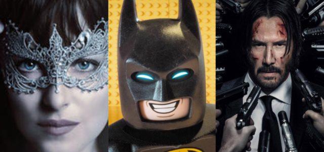 Box-Office USA: LEGO Batman siegt, Fifty Shades schwächelt, John Wick 2 beeindruckt