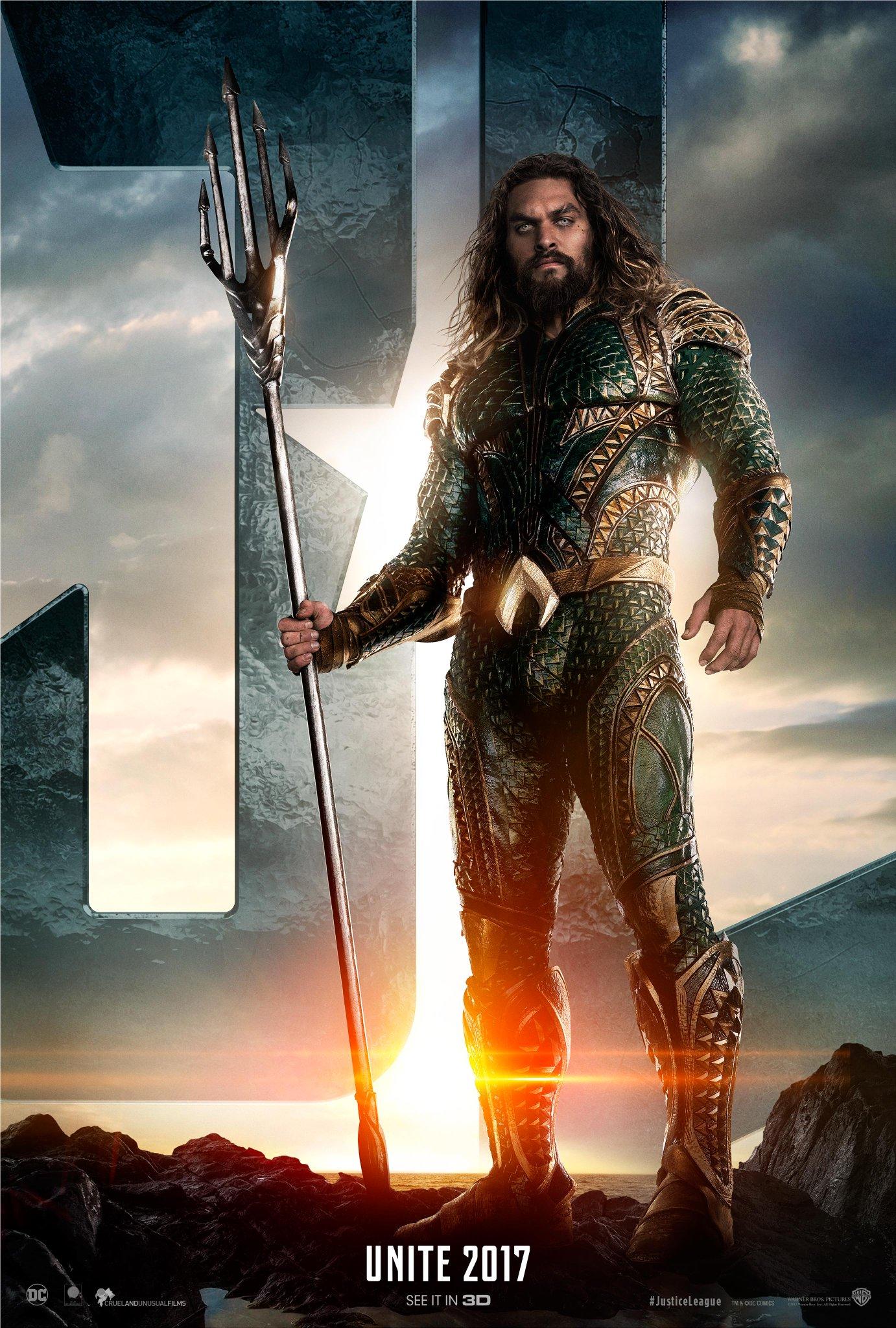 Justice League Trailer Aquaman Poster