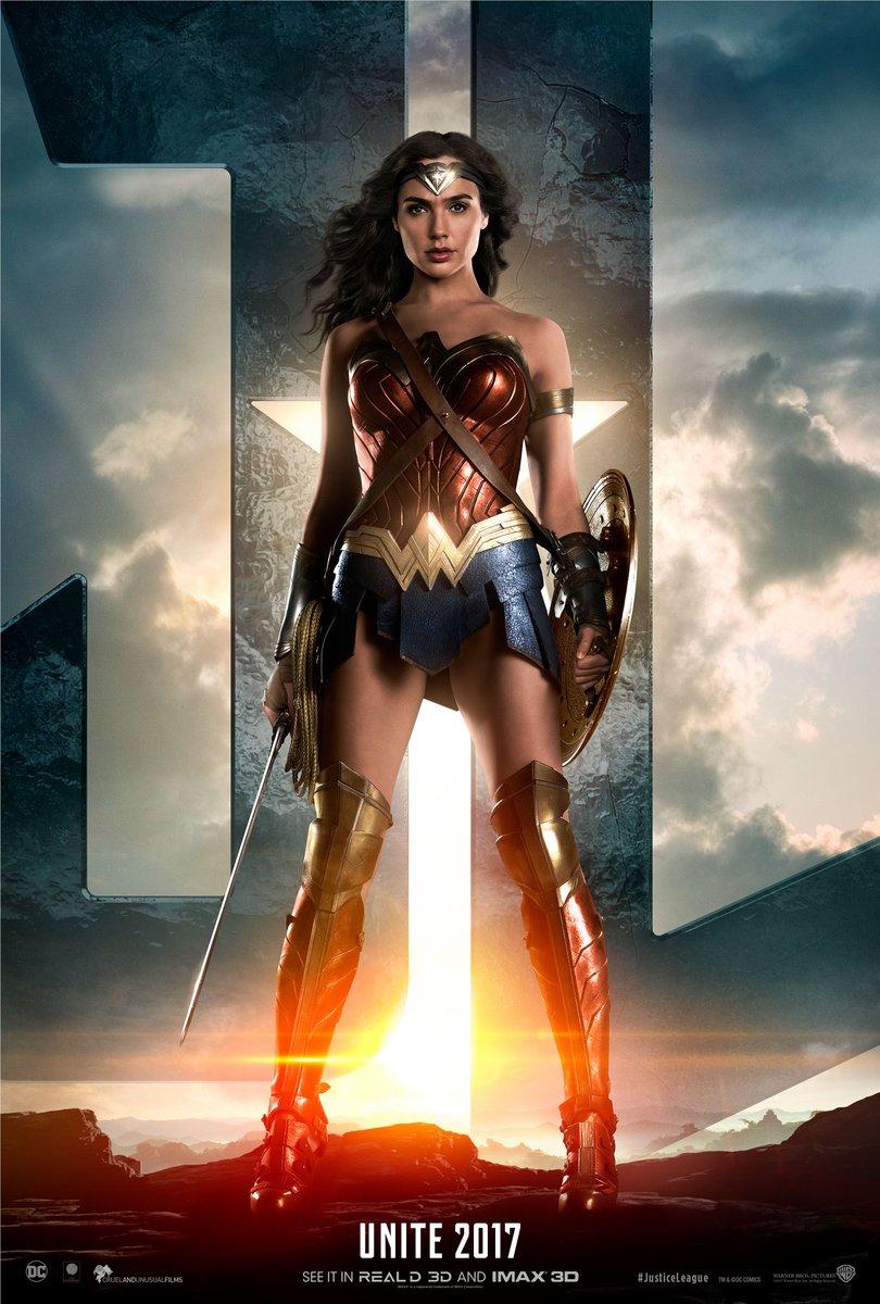 Justice League Trailer Wonder Woman Poster