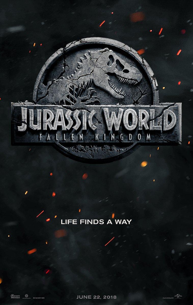 Jurassic World Fallen Kingdom Drehende Teaser Poster