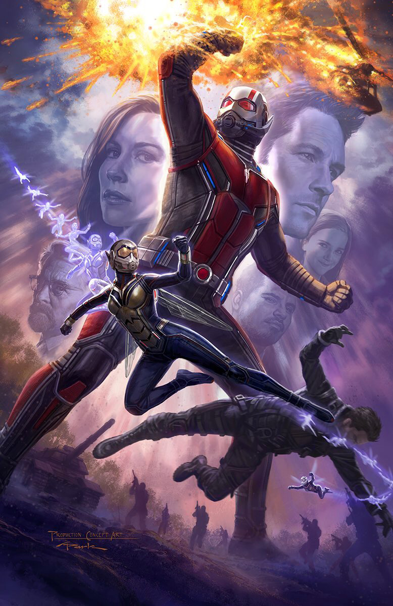 Ant Man and the Wasp Drehstart Concept Art