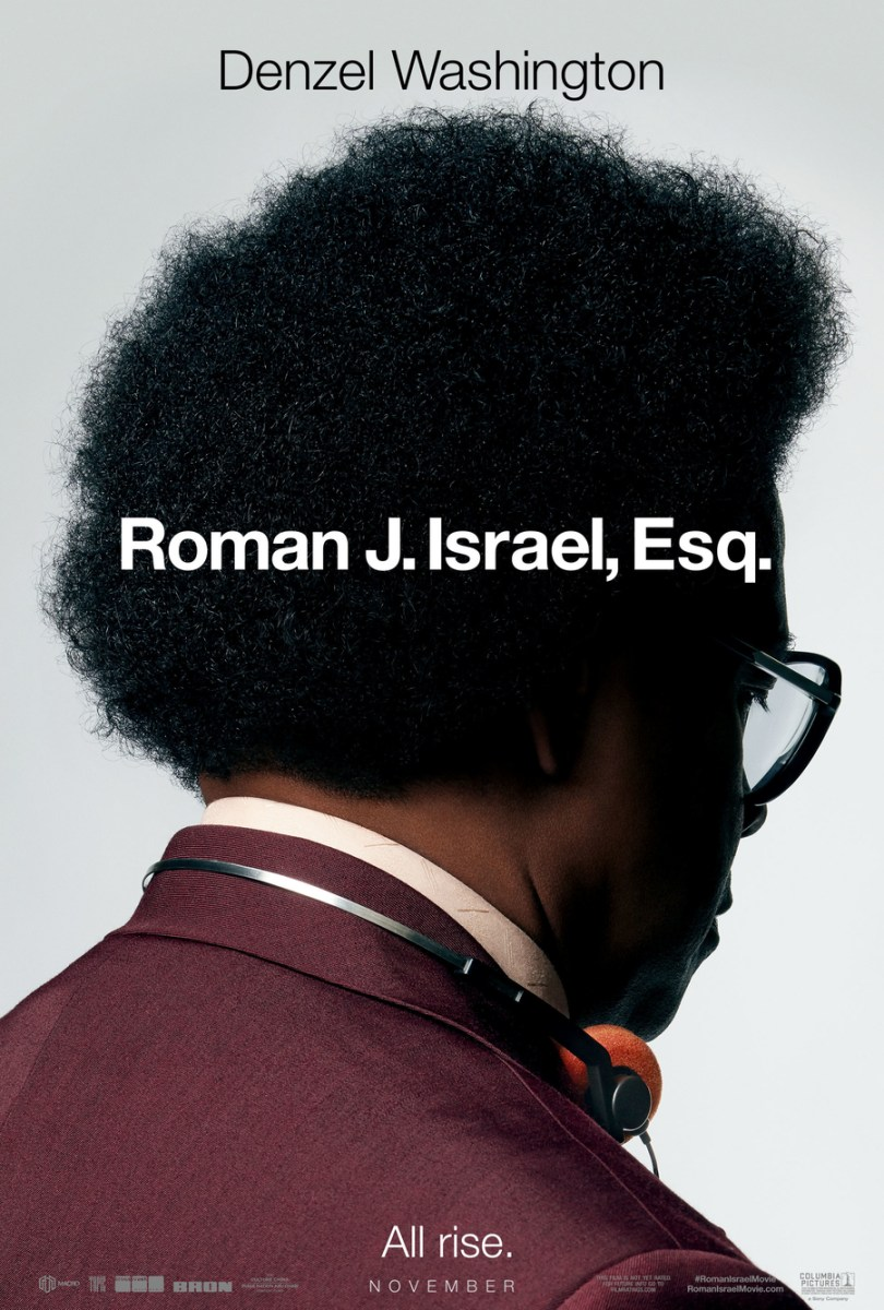 Roman J Israel Esq Denzel Washington Trailer & Poster