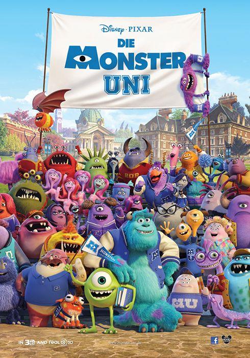 """Pixar präsentiert den deutschen """"Die Monster Uni"""" Trailer und Poster"""