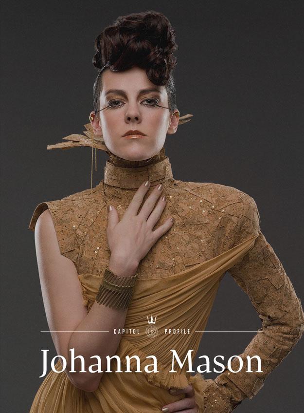 Catching Fire Banner und Johanna Mason Portrait