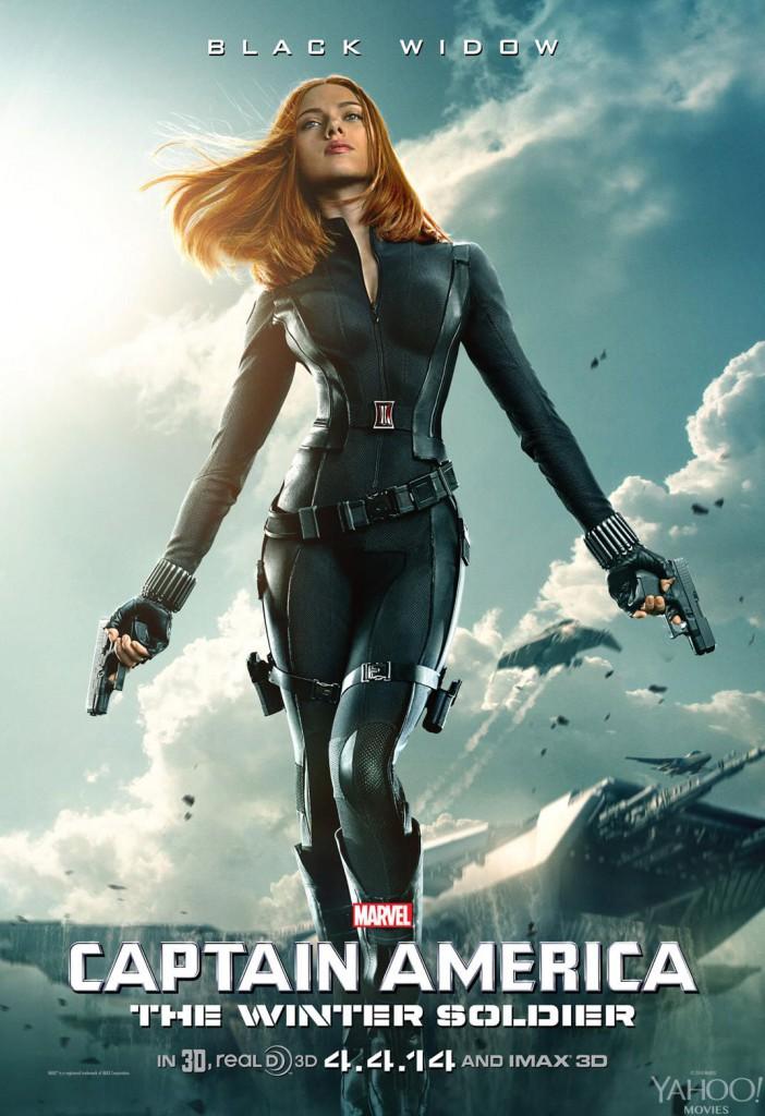 Captain America 2 Poster - Black Widow
