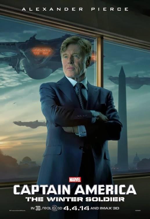 Captain America 2 TV-Spot, Charakterposter