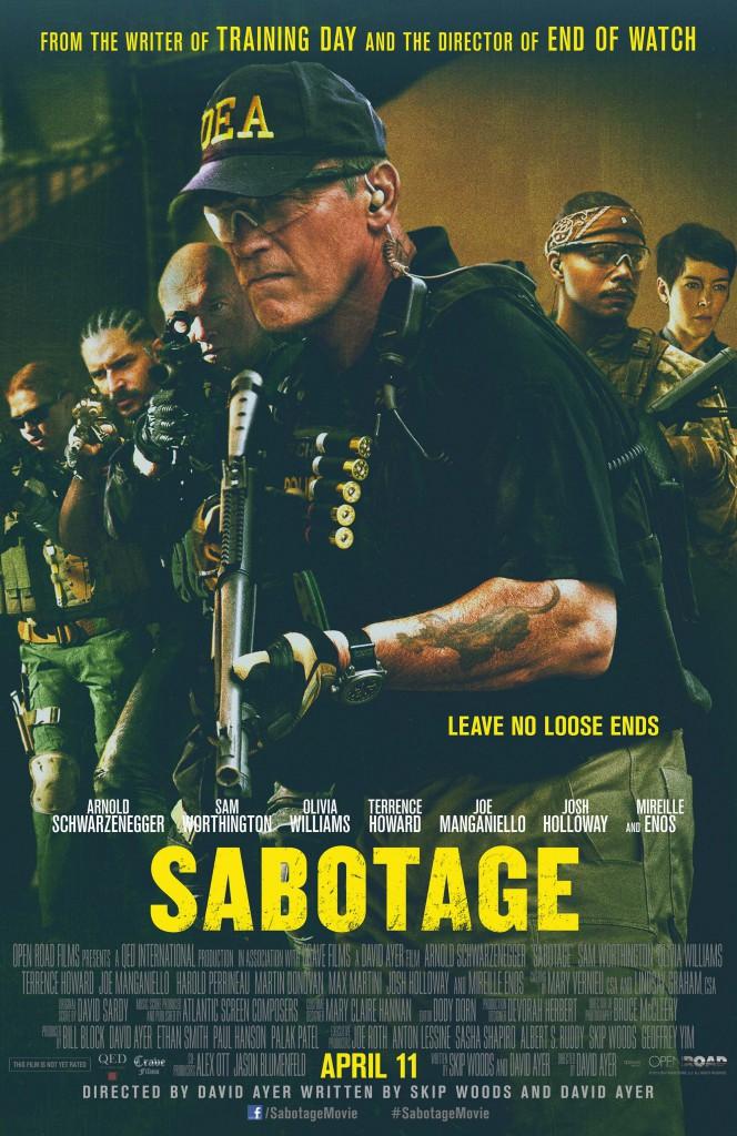 Sabotage Red Band Trailer & Poster