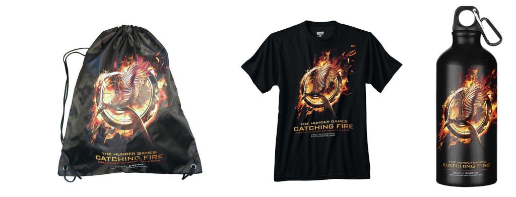 Catching Fire Gewinnspiel Zugbeutel, Trinkflasche und T-Shirt