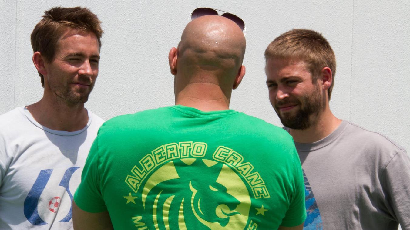 Walker Brüder am Set von Fast & Furious 7