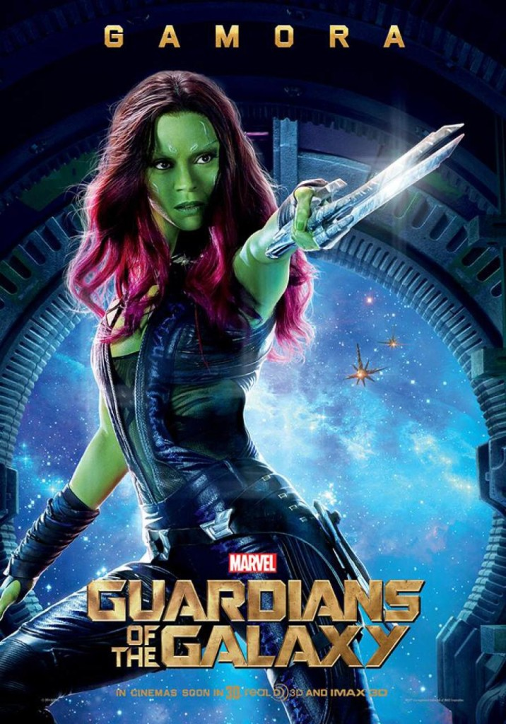 Guardians of the Galaxy Plakate Gamora