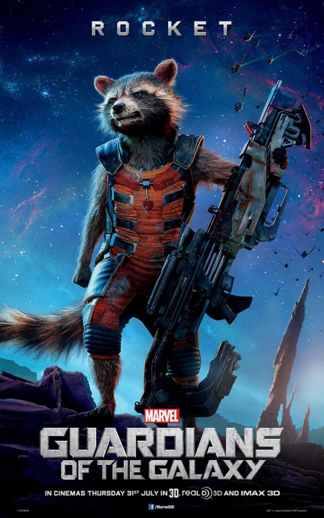 Guardians of the Galaxy Plakate Rocket