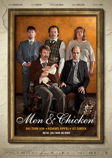 Men and Chicken Gewinnspiel Poster