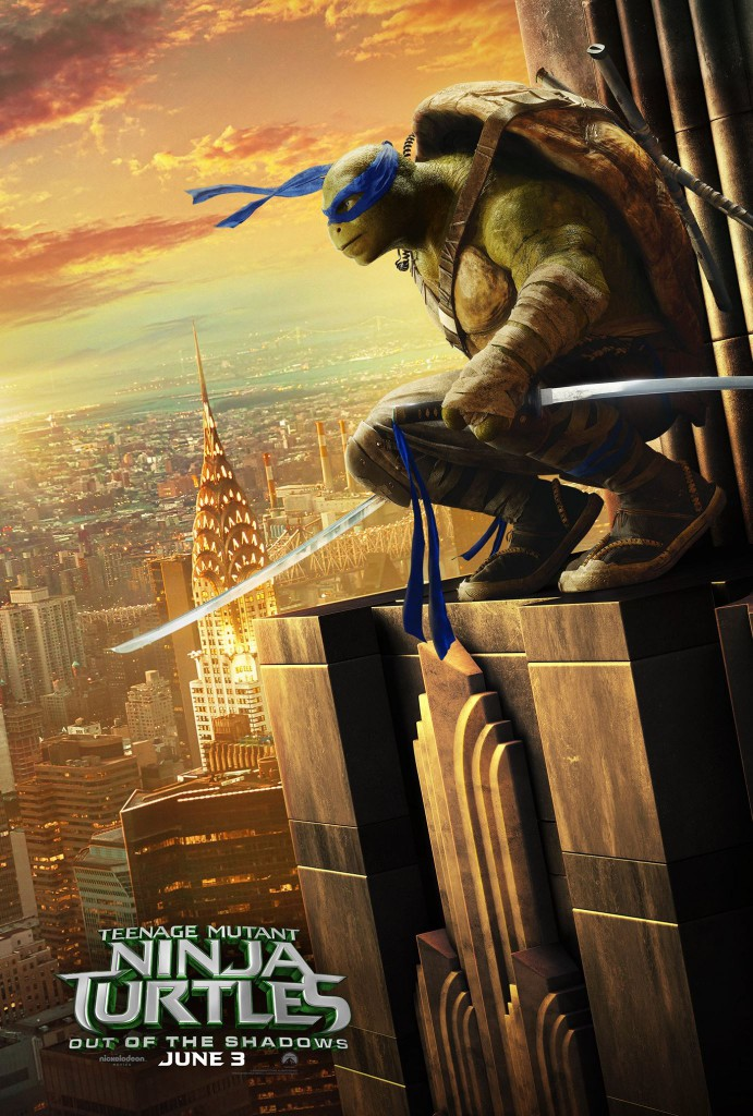 Teenage Mutant Ninja Turtles Out of the Shadows Poster Leonardo