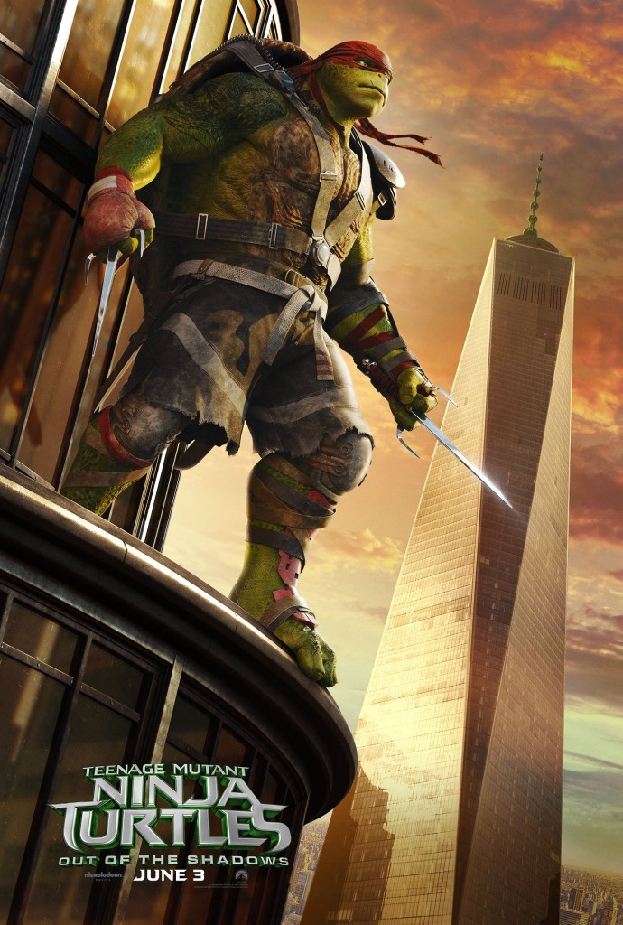Teenage Mutant Ninja Turtles Out of the Shadows Poster Raphael