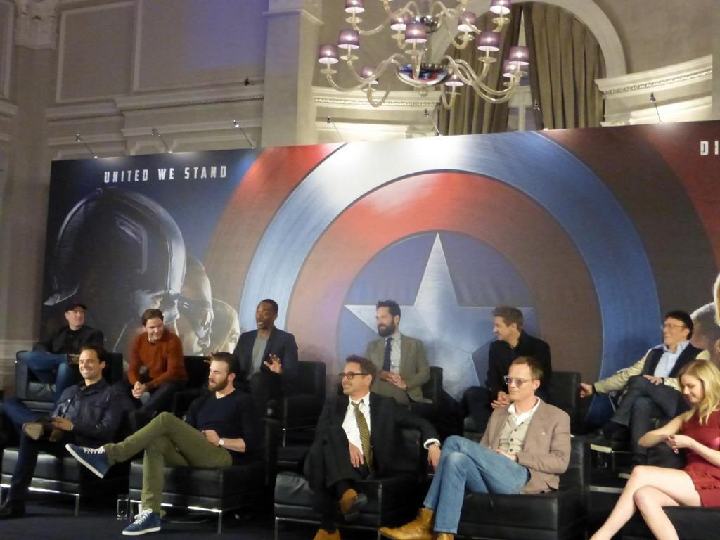The First Avenger Civil War Pressekonferenz 1