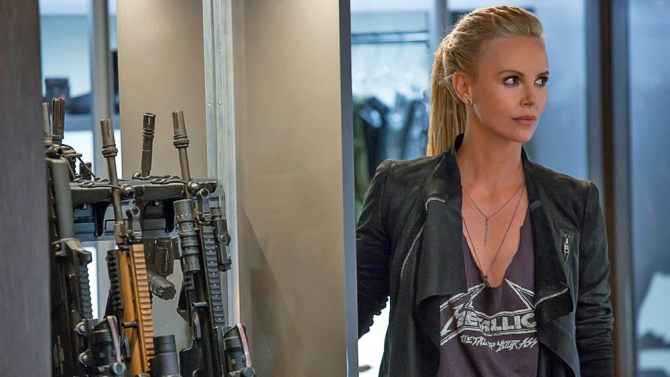 Fast and Furious 8 Helen Mirren Charlize Theron