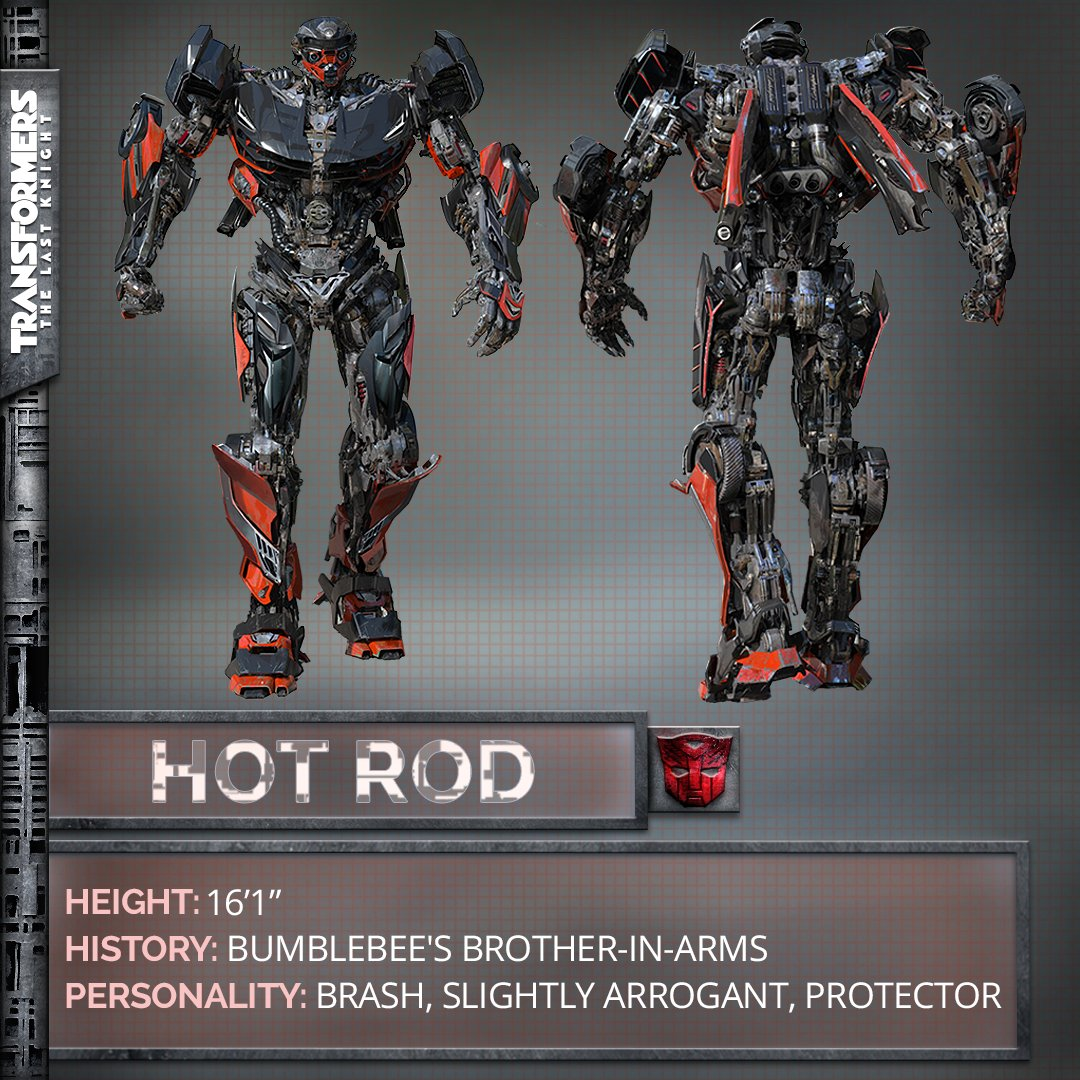 Transformers The Last Knight Poster Hot Rod