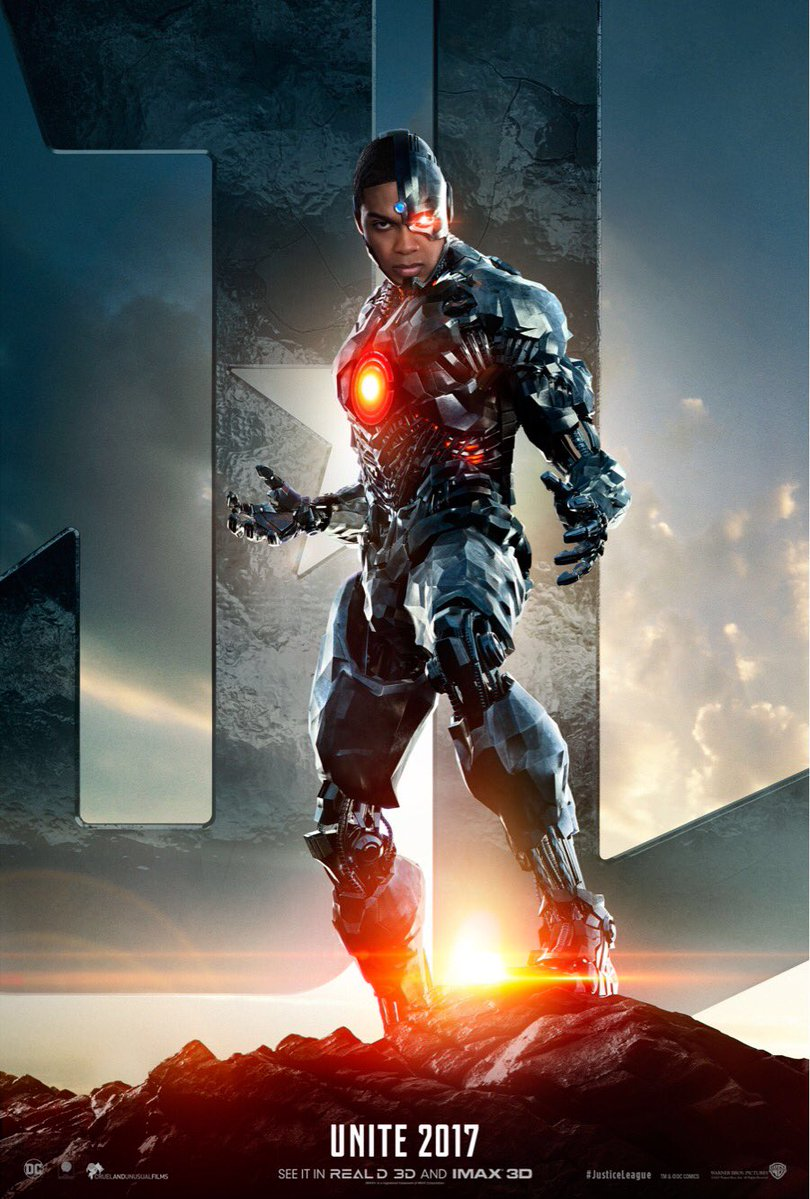 Justice League Trailer Cyborg Poster