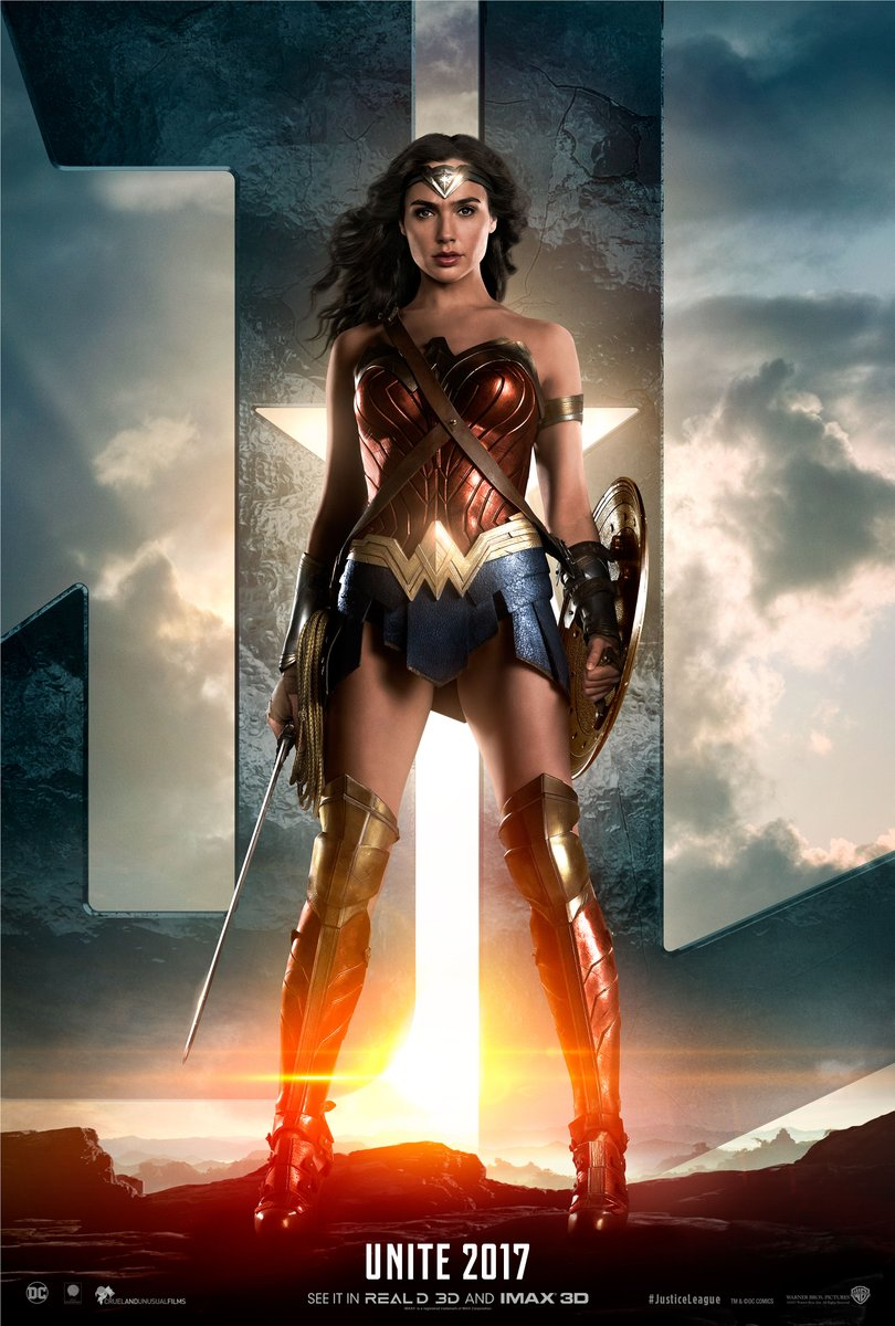 Justice League Trailer Wonder Woman Poster