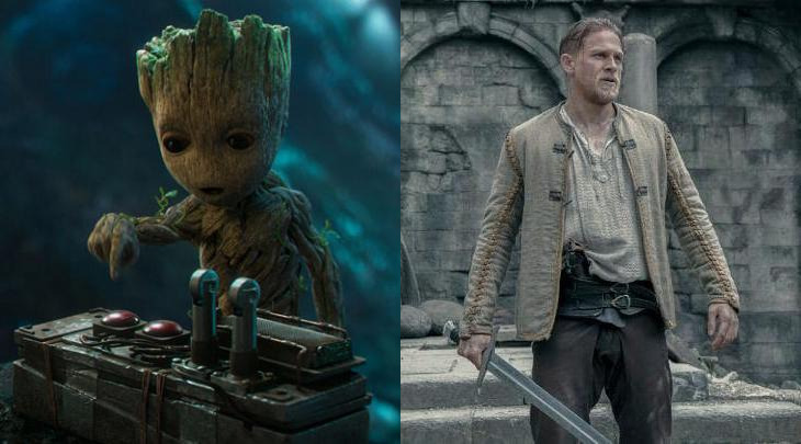 Guardians of the Galaxy Vol 2 King Arthur Box Office