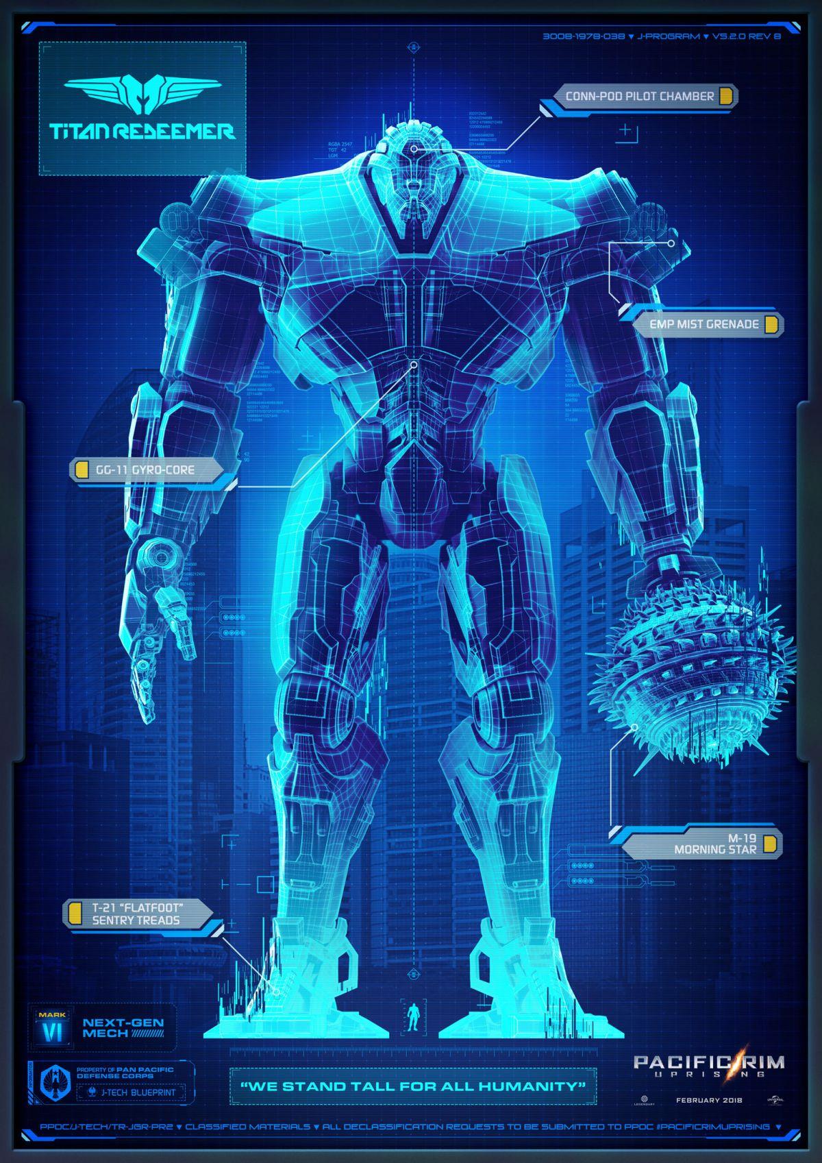 Pacific Rim 2 Teaser Jaeger Titan Redeemer