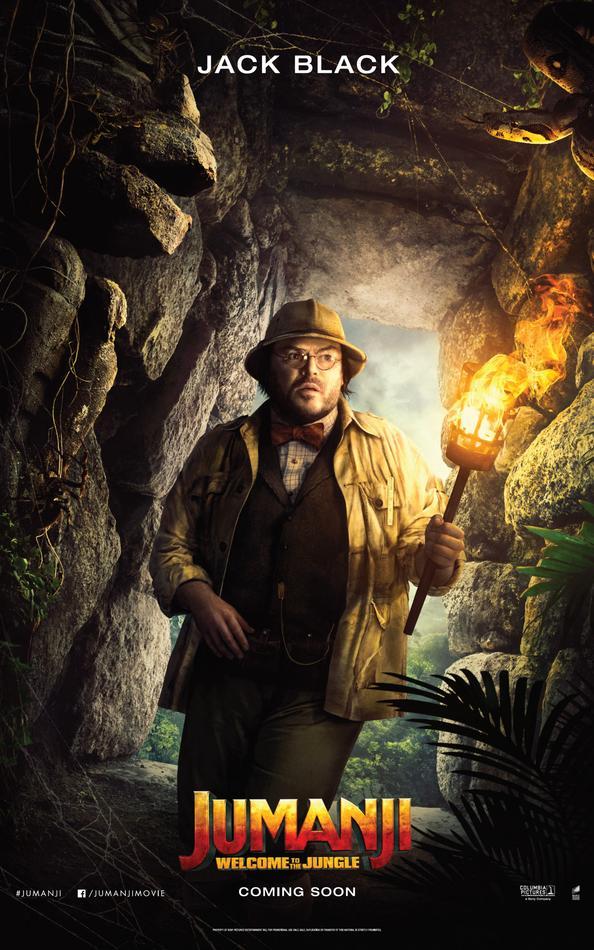 Jumanji Willkommen im Dschungel Charakterposter Jack Black