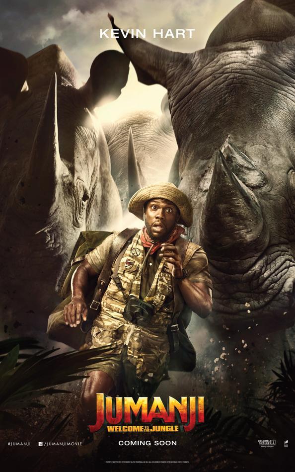 Jumanji Willkommen im Dschungel Charakterposter Kevin Hart