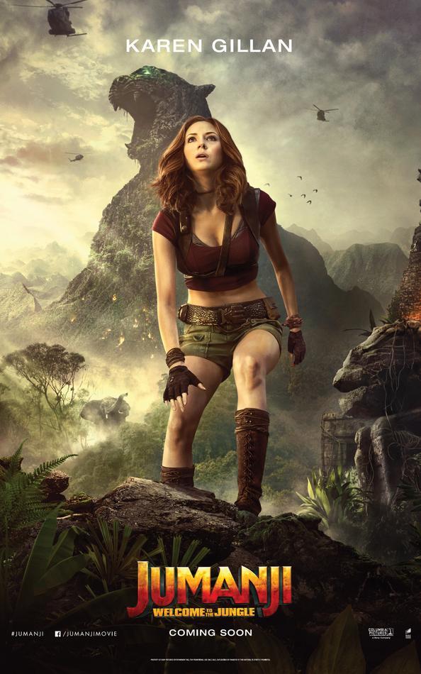 Jumanji Willkommen im Dschungel Charakterposter Karen Gillan