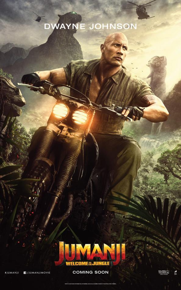 Jumanji Willkommen im Dschungel Charakterposter The Rock