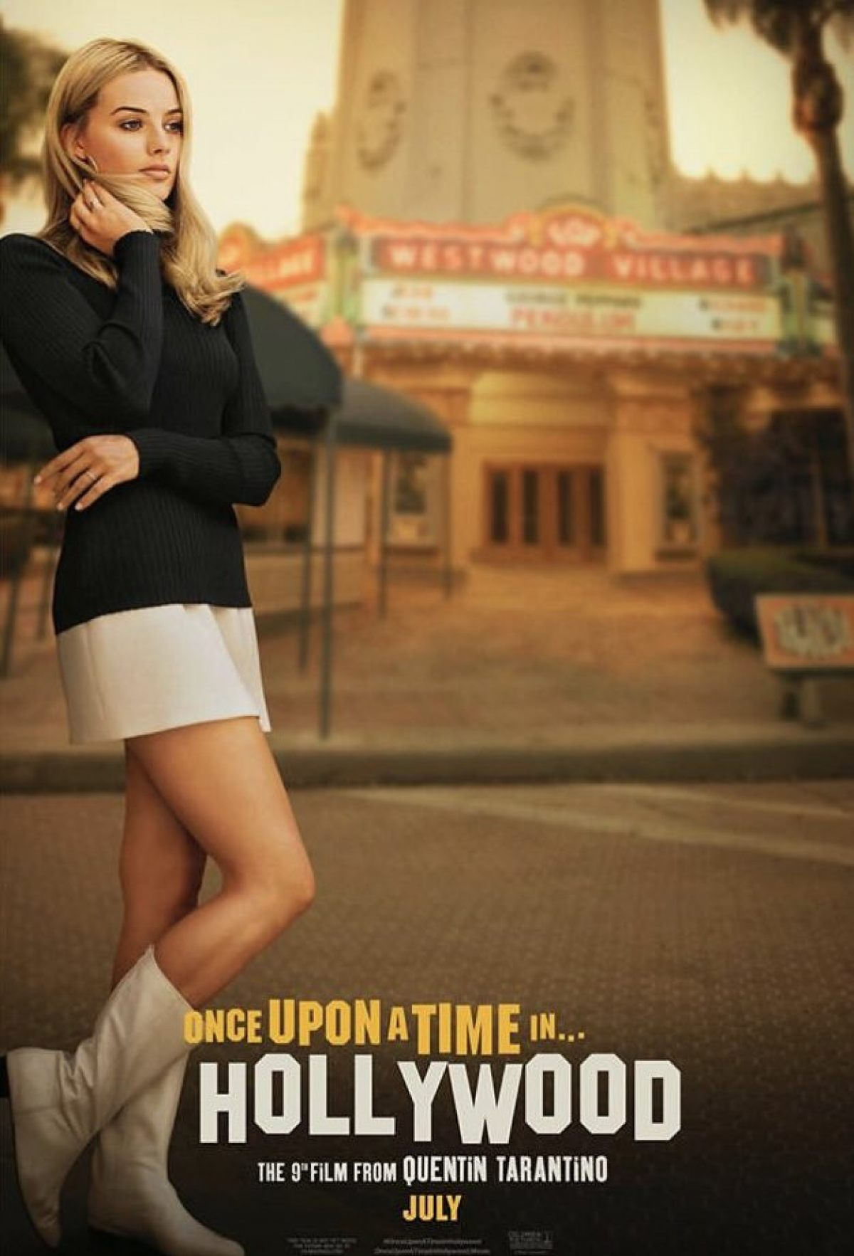 Once Upon A Time In Hollywood Poster Margot Robie