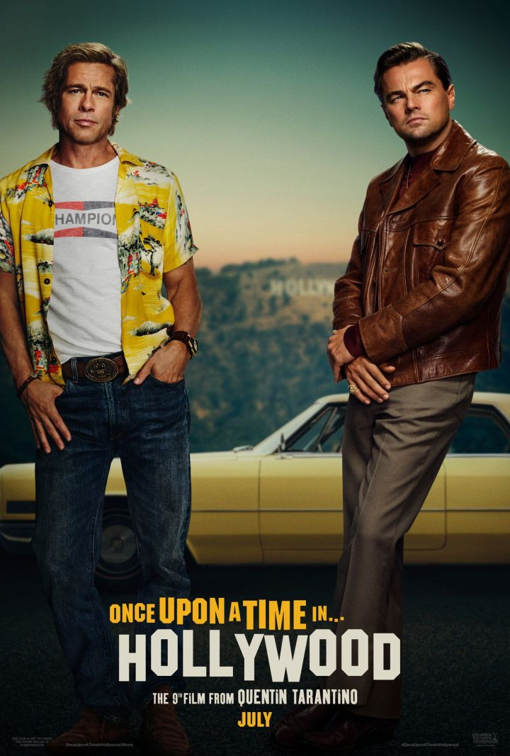 Once Upon A Time In Hollywood Poster diCaprio Pitt
