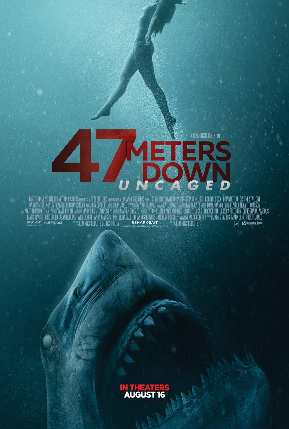 47 Meters Down Uncaged Trailer & Poster