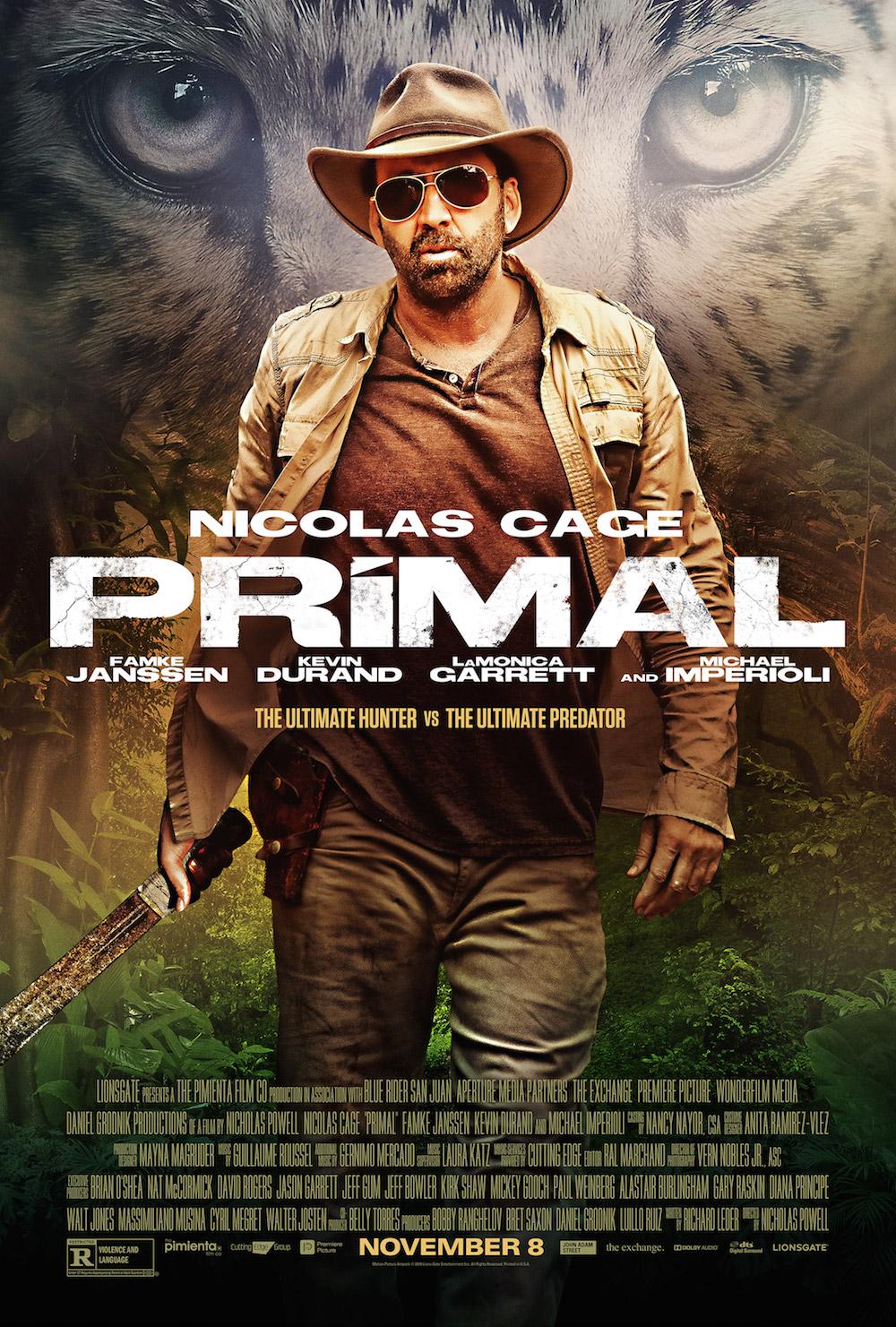 Primal Nicolas Cage Poster