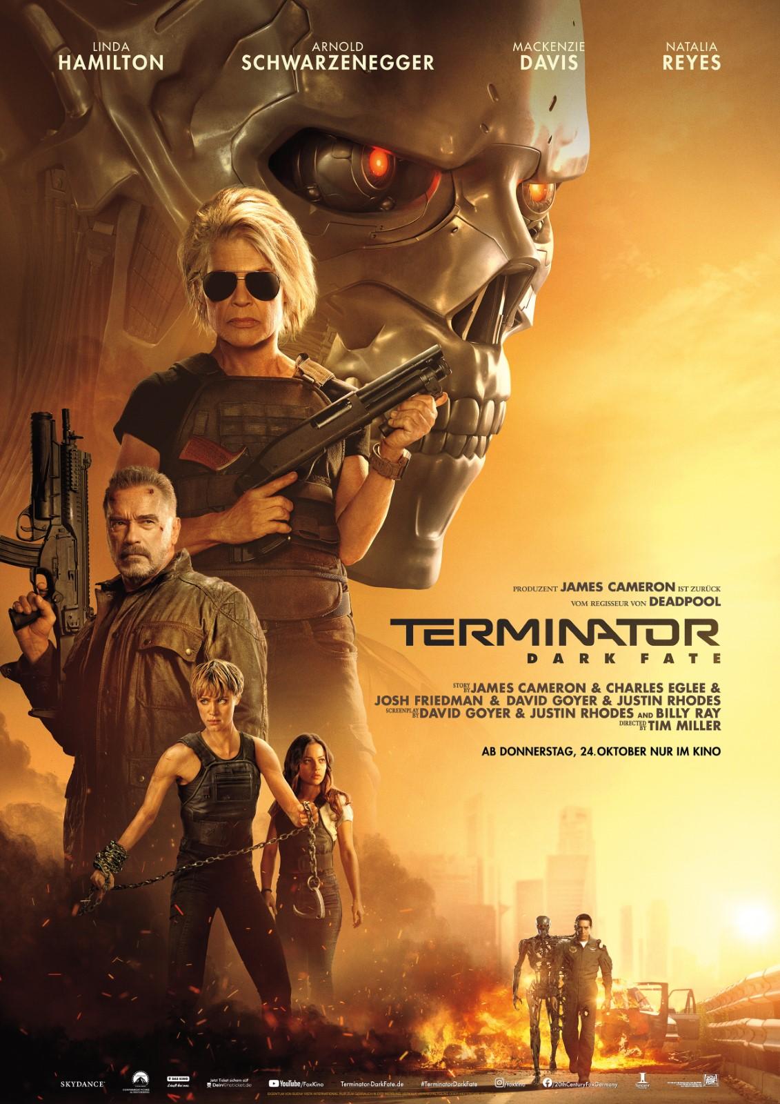 Terminator Dark Fate Vorschau Poster