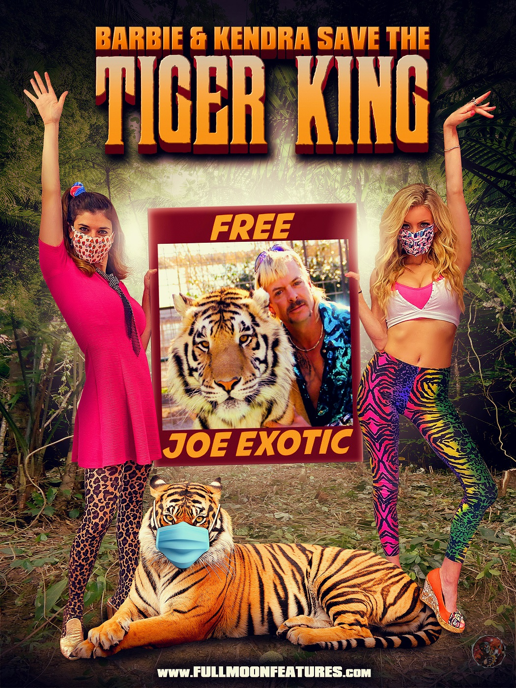 Corona Zombies Tiger King Poster